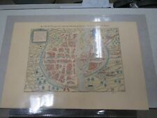 Carte ancienne Antique Map Atlas 1556 LA VILLE DE PARIS PAR TOUT TANT RENOMMEE