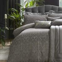 Grey Duvet Covers Masque Jacquard Quilt Cover Laurence Llewellyn-Bowen Bedding