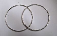 Hoop Unbranded Sterling Silver Fine Earrings without Stones