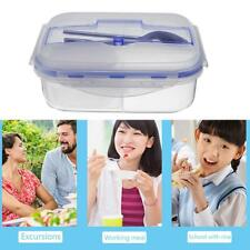 Microwave Picnic Lunch Box School Bento Food Container Storage Box with Spoon