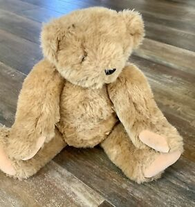 Vermont Teddy Bear Company brown Jointed Teddy Bear pink green  diaper Plush euc