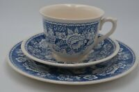 Crabtree Evelyn London Masons Blue and White Cup Saucer Bread Plate