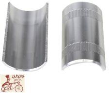 SUNLITE SILVER BICYCLE HANDLEBAR SHIMS---22.2/25.4mm