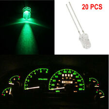 20) Green 5mm Mini LED Bulbs Clearence Instrument Cluster Panel Gauge Base Light