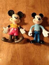Vintage Mickey Mouse Articulated Hard Rubber 5in Doll Figure lot 2