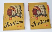 More details for 2 vintage indiana swiss cigar boxes packets red native american indian hediger