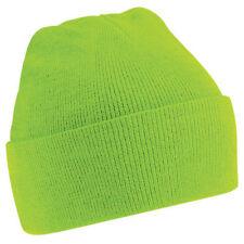Chapeaux verts en acrylique taille unique pour homme