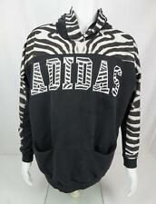 Adidas Hoodie Sweatshirt Zebra Print Black White Mens XL