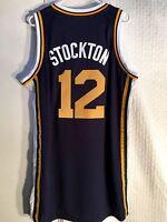 Adidas Swingman NBA Jersey Utah Jazz John Stockton Navy sz