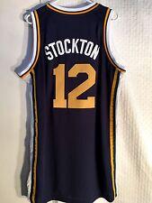 Adidas Swingman NBA Jersey Utah Jazz John Stockton Navy sz L