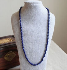 Natural Afghan lapis lazuli natural handmade bead necklace original 24 INCH