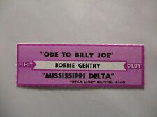 Bobbie Gentry - Ode To Billie Joe + Mississippi Delta Classic Tracks Jukebox Str