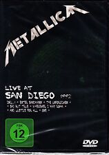 METALLICA - LIVE IN SAN DIEGO 1992 NEW & SEALED DVD ALL REGIONS