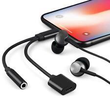 Lightning Klinke Audio Adapter für Apple iPhone Kopfhörer & Ladegeräte Schwarz