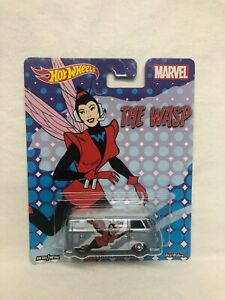 HOT WHEELS MARVEL THE WASP VW VOLKSWAGEN T1 PANEL BUS REAL RIDERS