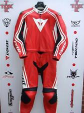 Dainese stripes 2 piece race suit without hump size uk 46 euro 56