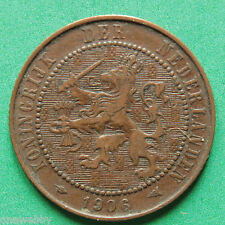 1906 Netherlands Two and Half Cents 2 1/2 Cent SNo30375