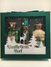 Vanilla Bean Noel Gift Set Holiday Set of 3 Shower Gel Lotion Spray Boxed New