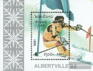 Laos block137 fine used / cancelled 1991 Olympics Winter Games ´92