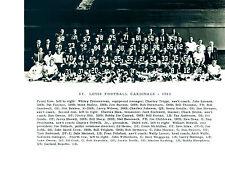 1963 ST. LOUIS CARDINALS 8X10 TEAM PHOTO JOHNSON CONRAD  FOOTBALL NFL HOF