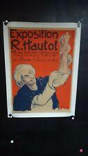 AFFICHE EXPO HAUTOT ORIENTALISME ALGER ANNEES 1930