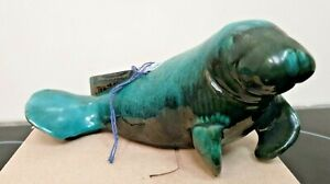 Blue Mountain Pottery Manatee with original tags