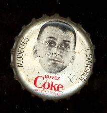 1965 COKE COCA-COLA CAP + CORK CFL FOOTBALL TERRY EVANSHEN RC YEAR ALOUETTES