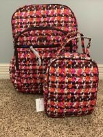 Vera Bradley Houndstooth Tweed Campus Tech Backpack & Lunch Bunch Bag with Tags
