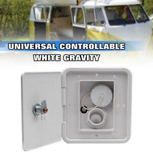 1x Lockable Water Intake Screws Hatch Cover Gravity Inlet Square Caravan Fill AU