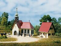 Auhagen 14461 Dorfkirche mit Pfarrhaus in N Bausatz Fabrikneu