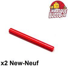Lego Technic- 2x Axe Axle 6 rouge/red 3706 NEUF