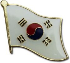 Wholesale Pack of 6 South Korea Country Flag Bike Hat Cap lapel Pin