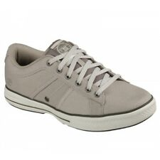Skechers ARCADE - FULROW Mens Canvas Casual Trendy Daily Wear Trainers Taupe