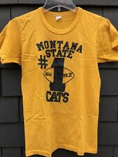 vtg 70s 1976 Montana State Bobcats Division II champion #1 football t shirt XXS