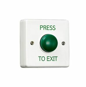 Single Gang Green Dome Request To Exit Button, Door Release switch