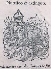 Salamandre 1557 François 1er Amphibien Herpétologie Charles d'Angoulême Monnaie