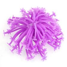 Anémone Artificielle Aquatique Silicone Céramique Violet Déco Aquarium Poisson