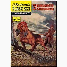 Illustrierte Klassiker Nr. 237   3 Berühmte Geheimnisse BSV COMIC HISTORIE SAGEN