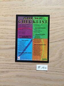 NBA FLEER #140 European Checklist carte N°270 1994 1995