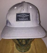 THE HUNDREDS Sample Pinstripe Hat Cap Snapback Black White Gray Bomb RARE HTF