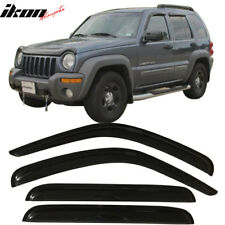 Fits 02-07 Jeep Liberty Window Visor Rain Vent Shade Wind Guard 4PCS - Acrylic
