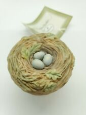 "Hallmark Marjolein Bastin Bird Nest ""Love Begins With Mother"" Trinket Box 1999"