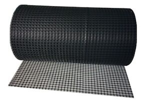 Black Plastic Mesh Fencing 15mm x 15mm Animals Fencing Fence  PVC Net Borde