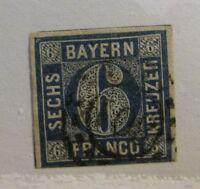 BAVARIA Scott #11 Θ used Bayern , vg - fine + 102 card