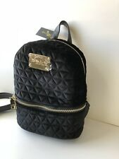 NWT Bebe mini Backpack Margeaux Velvet Quilted Black  $89