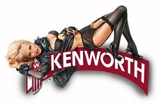 KENWORTH SEMI TRUCK LACE GIRL STICKER DECAL GARAGE LABEL MAN CAVE TOOLBOX USA