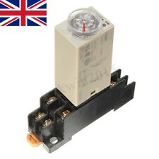 DC 12V Delay Timer Relay Power on Time 0~60 Minute Solid Delay Socket H3Y-2 Base