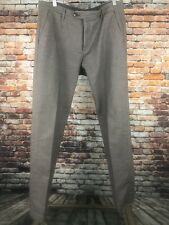 Ted Baker London Men's Freshman Pleated Front Pants Trousers 34R Gray