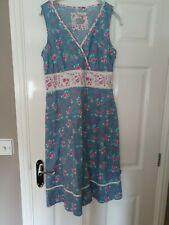 Ness dress turquoise,pink & cream size 12