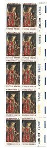 1969 6-cent US stamps Christmas Jan van Eyck partial sheet of 10